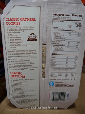 Quaker Old-Fashioned Oatmeal Costco 4