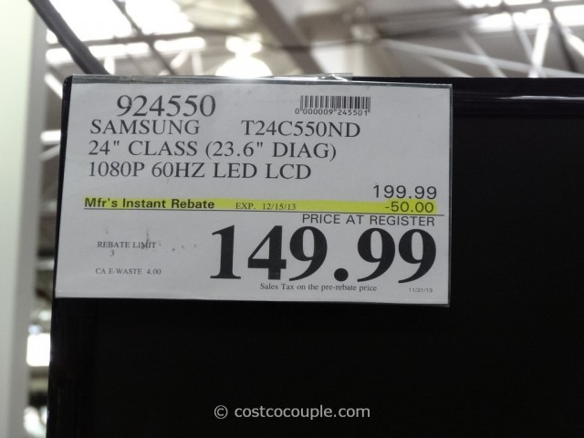 Samsung 24-Inch Monitor T24C550ND Costco