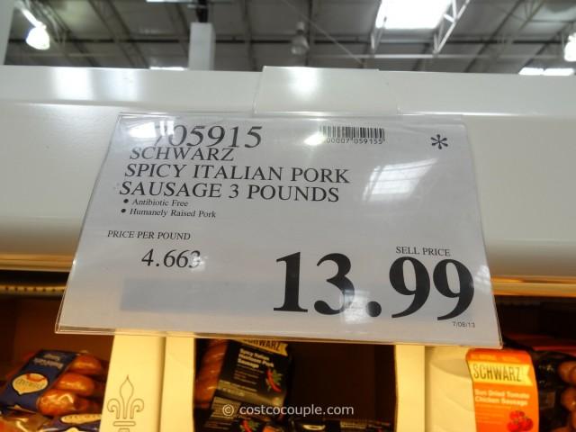 Schwarz Spicy Italian Sausage Costco 1