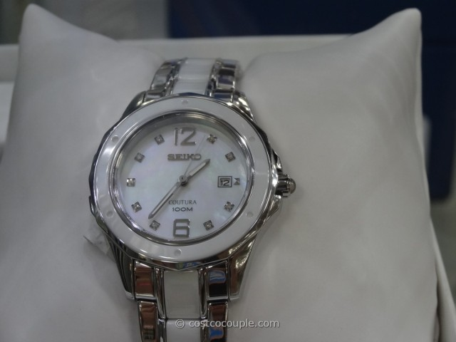 Seiko Ladies Coutura Diamond-Accented Watch Costco 1