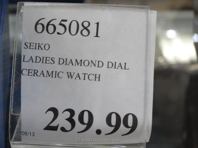 Seiko Ladies Coutura Diamond-Accented Watch Costco 2