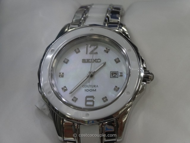 Seiko Ladies Coutura Diamond-Accented Watch Costco  4