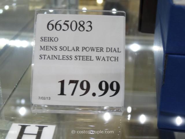 Seiko Solar Power Dial Watch Costco 3