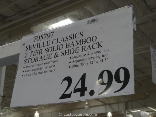 Seville Classics Bamboo Shoe Storage Rack Costco