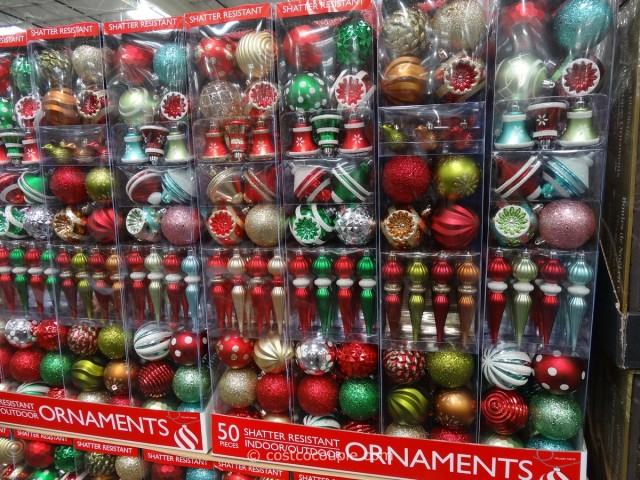 Christmas Centerpiece Costco : Shatter resistant ornaments piece set