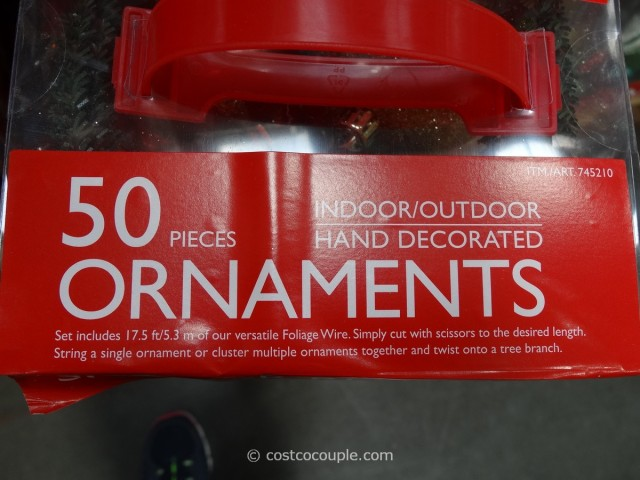 Shatter Resistant Ornaments 50 Piece Set