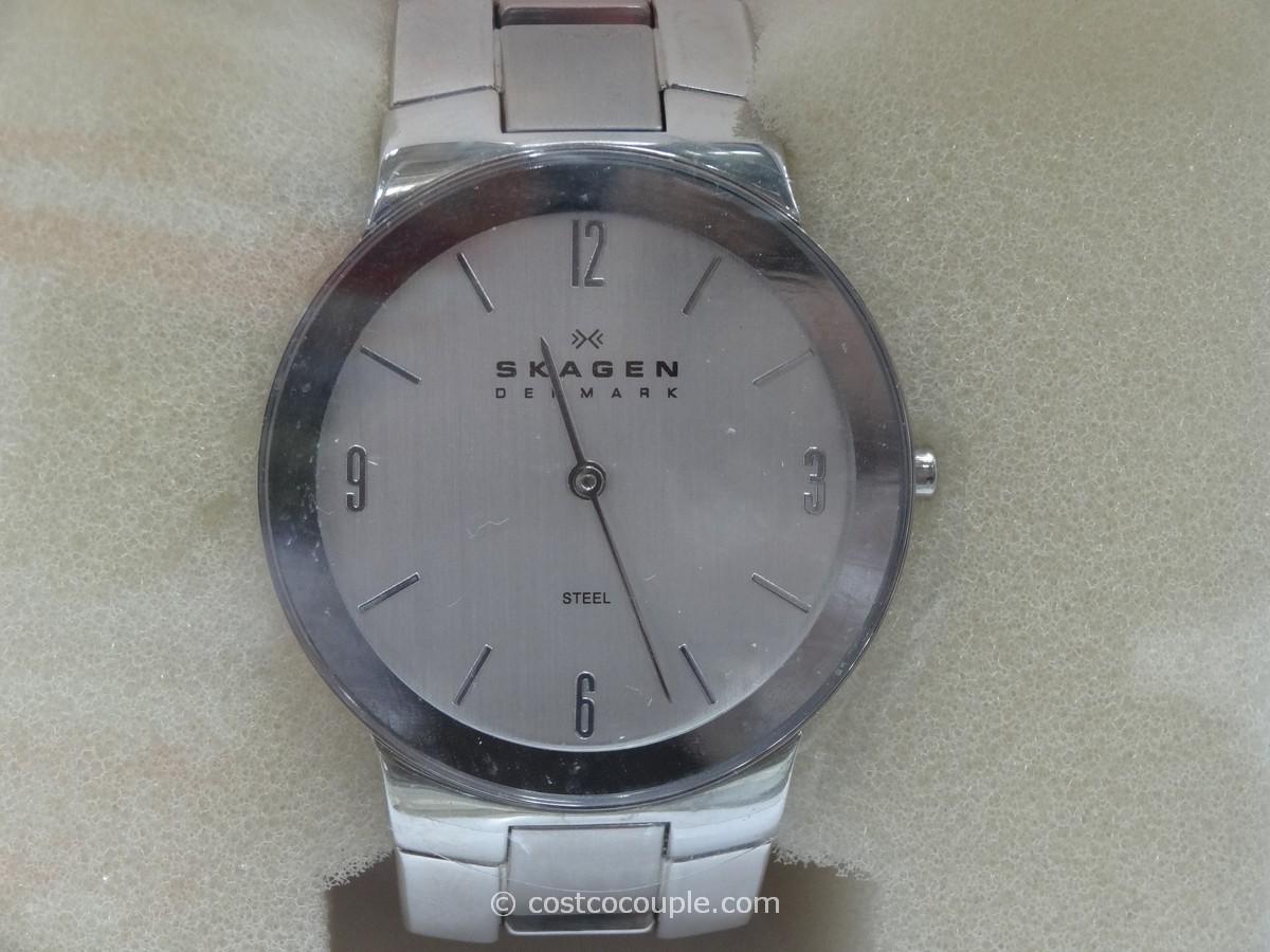 Skagen Ladies Stainless Steel Link Bracelet Watch Costco 1