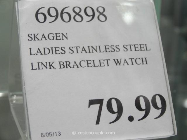 Skagen Ladies Stainless Steel Link Bracelet Watch Costco 2
