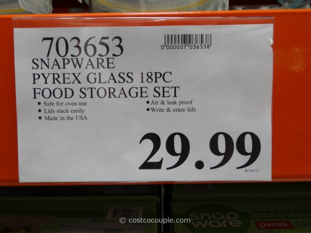 Snapware Pyrex Glass Food Storage Set Costco 1