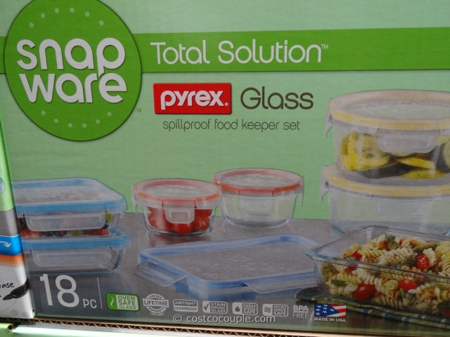 Snapware Pyrex Glass Food Storage Set Costco 3