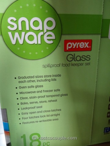 Snapware Pyrex Glass Food Storage Set Costco 4