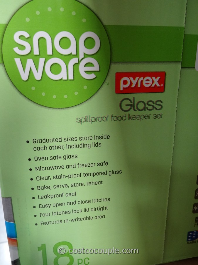 Snapware Pyrex Glass Food Storage Set