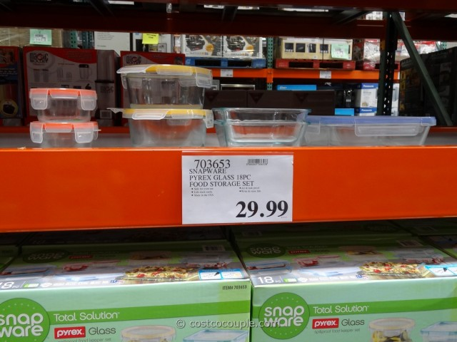 Snapware Pyrex Glass Food Storage Set Costco 7