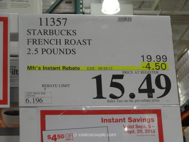 Starbucks French Roast Coffee Costco