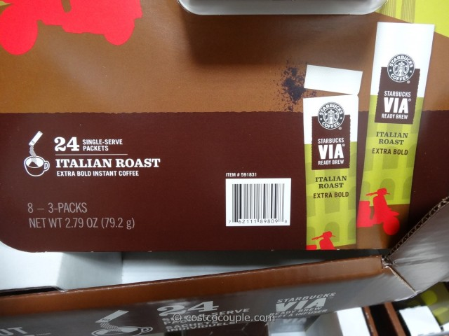 Starbucks VIA Italian Instant Coffee Costco 3
