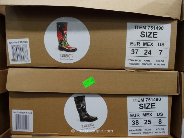 The Sak Ladies Fur Lined Rain Boots Costco 2
