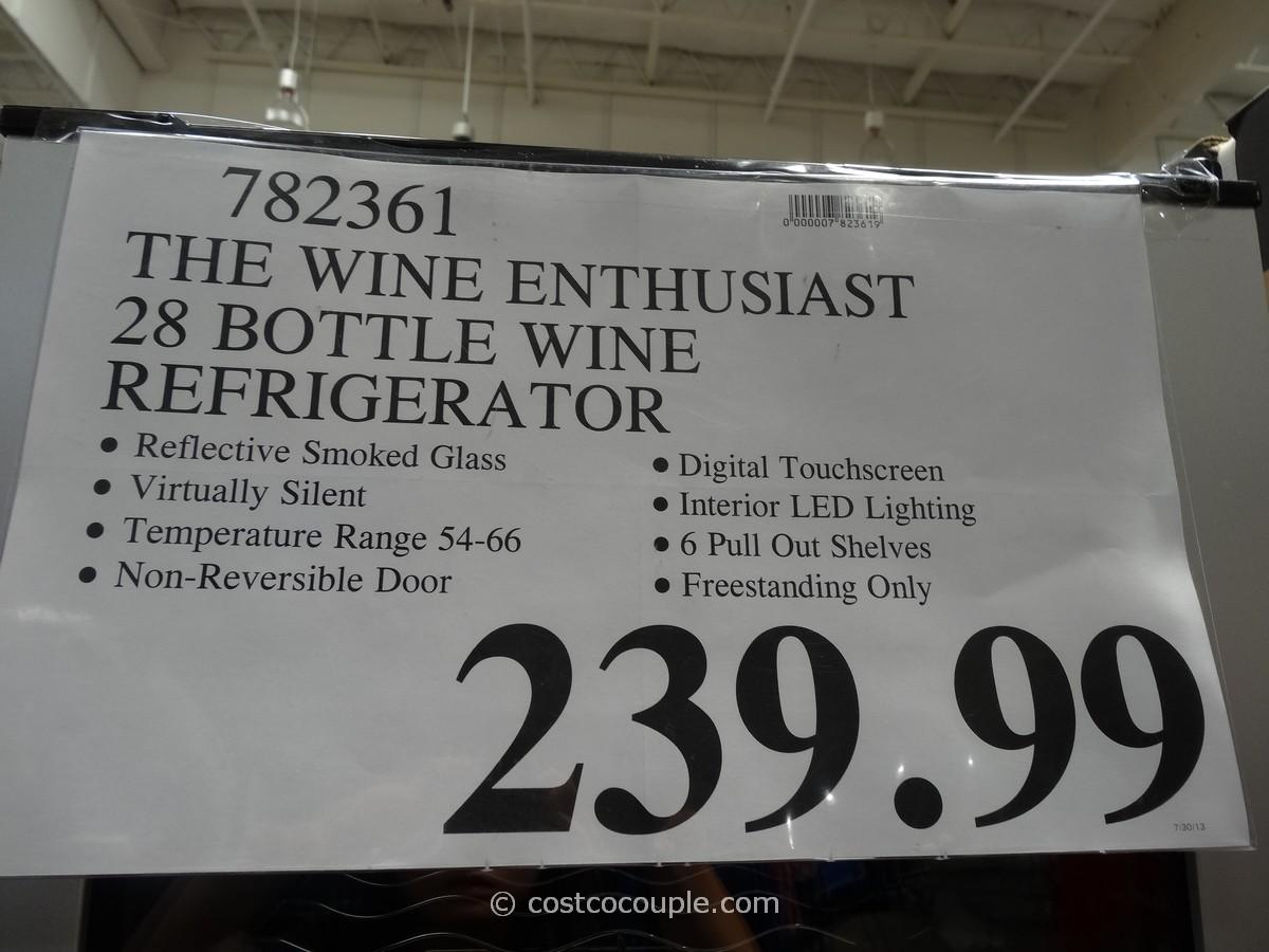 The Wine Enthusiast 28 Bottle Wine Refrigerator