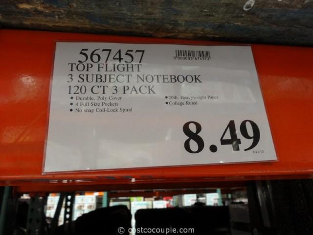 Top Flight 3 Subject Notebooks