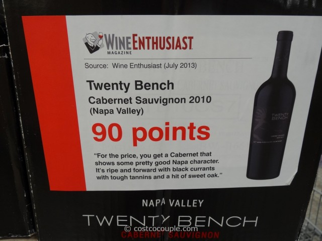 Twenty Bench 2010 Cabernet Sauvignon Costco 1