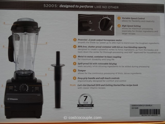 Vitamix 5200S High Powered Blender Costco 5