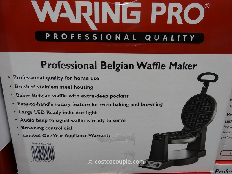 how to clean waffle maker waring pro
