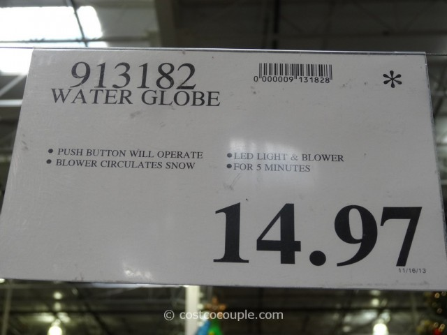 Holiday Water Globe Costco