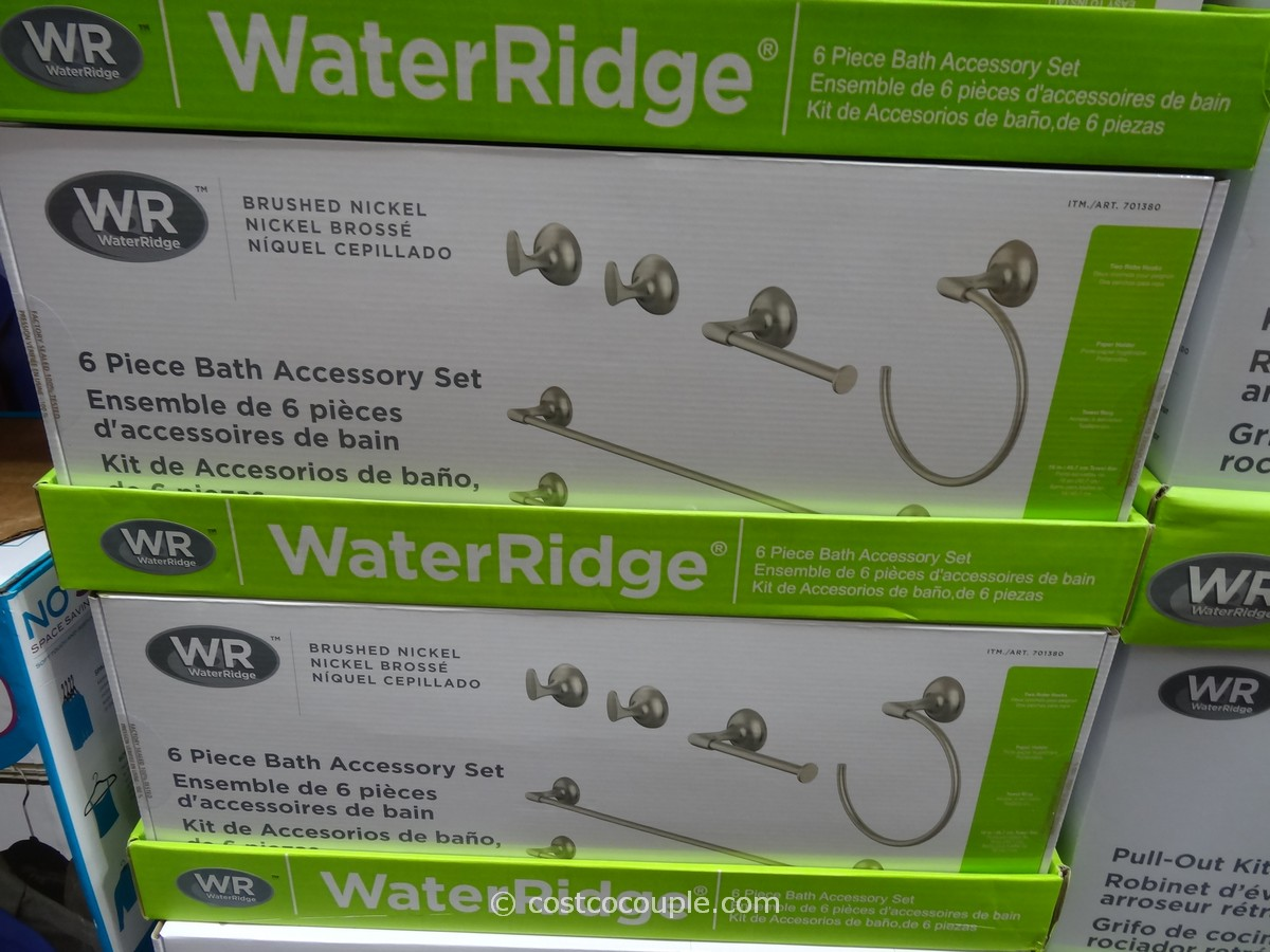 Water Ridge Bathroom Accessory Kit Costco 1