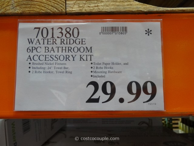 water ridge bathroom accessory kit costco 2