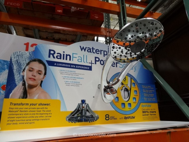 Waterpik Rainfall + Powerspray Showerhead Costco 1