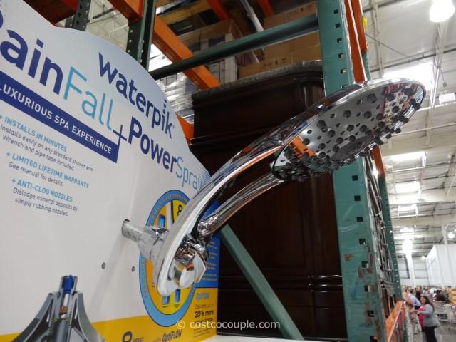 Waterpik Rainfall + Powerspray Showerhead Costco 4