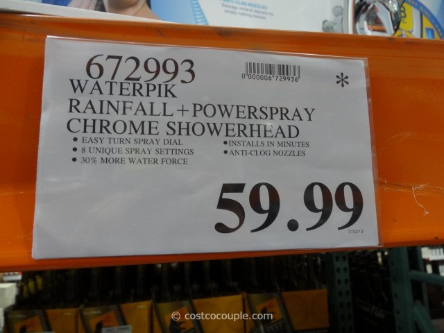 Waterpik Rainfall + Powerspray Showerhead Costco 5