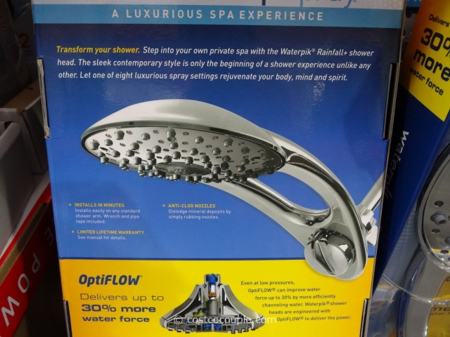 Waterpik Rainfall + Powerspray Showerhead Costco 6