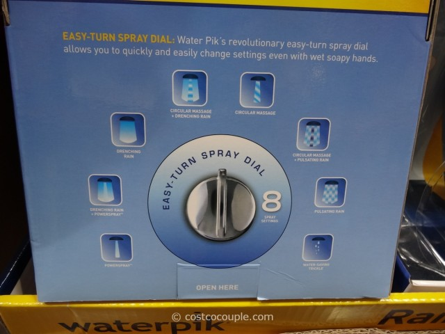 Waterpik Rainfall + Powerspray Showerhead Costco 7
