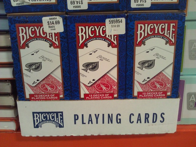 Bicycle Playing Cards 12-deck Costco