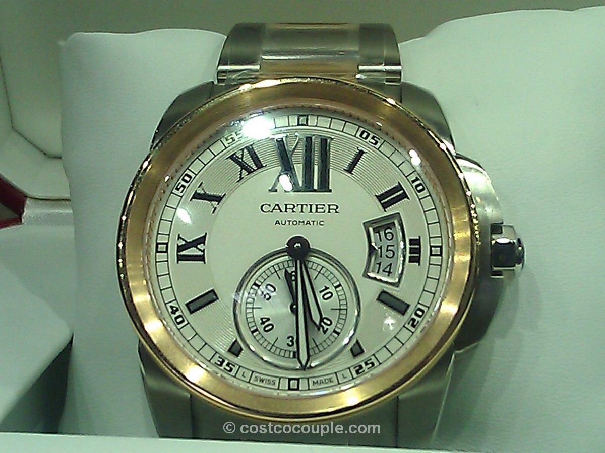 Cartier Calibre Automatic 18kt Rose Gold Steel Watch Costco