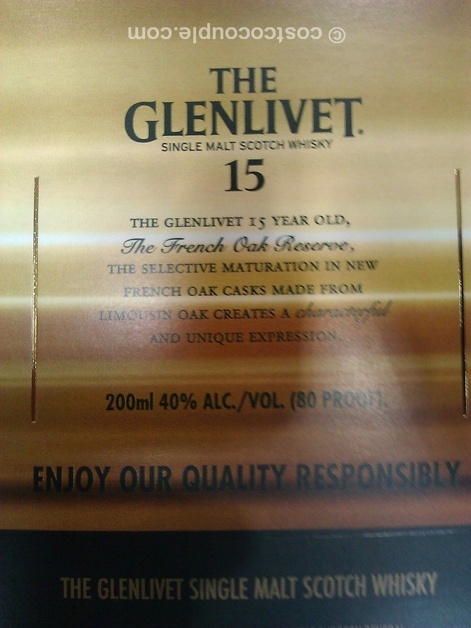 Glenlivet 12 15 18 Yr Sampler Scotch Whisky