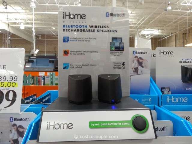 iHOme Bluetooth Rechargeable Mini Speaker System Costco 2