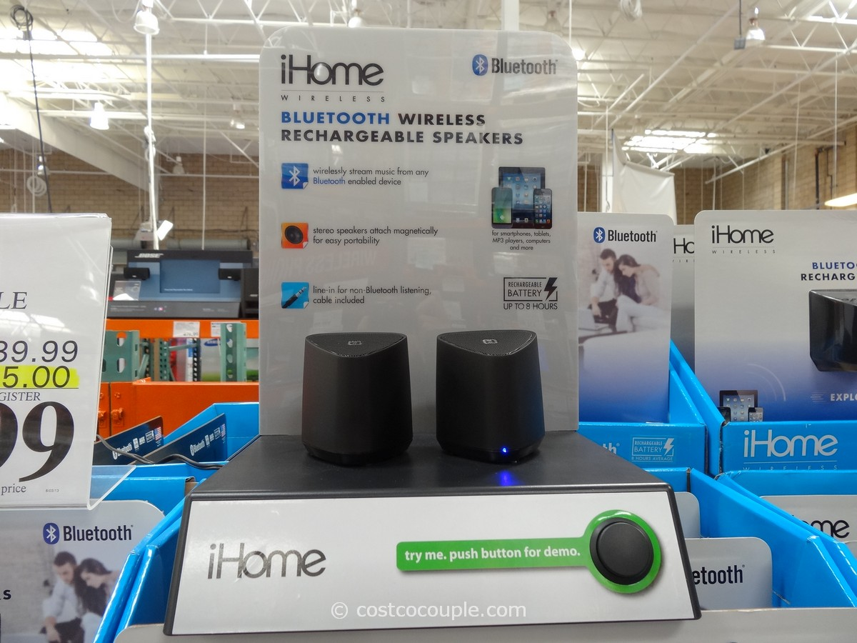 iHOme Bluetooth Rechargeable Mini Speaker System Costco