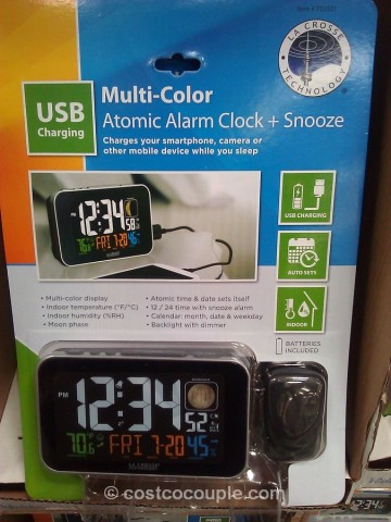 La Crosse Color LCD Alarm Clock Costco 1