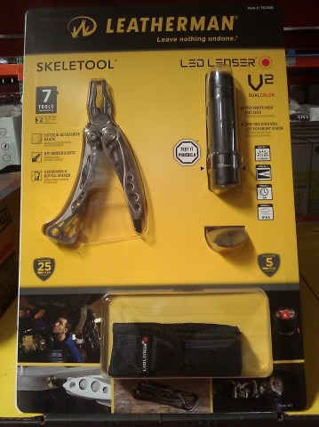 Leatherman Skeletool and LED Flashlight Combo Costco