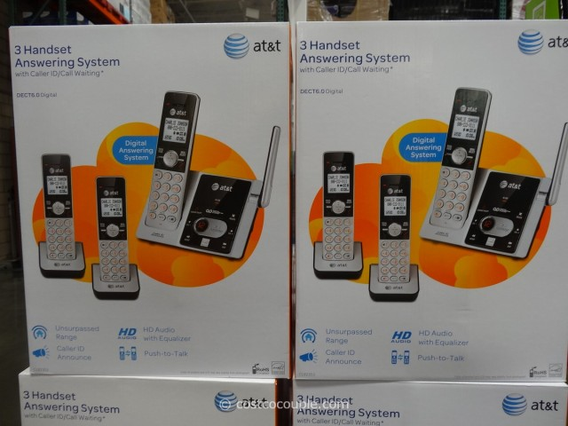 AT&T 3 Handset Answering System Costco 1