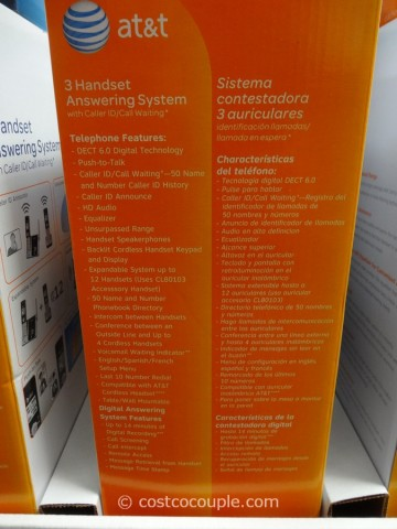 AT&T 3 Handset Answering System Costco 2