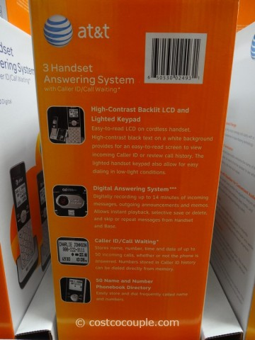 AT&T 3 Handset Answering System Costco 3