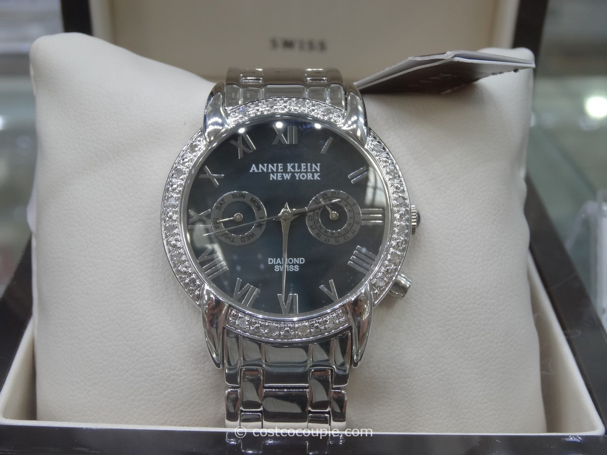 Anne Klein Diamond Bezel Watch Costco