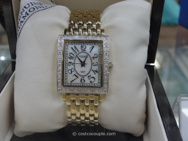 Anne Klein Ladies Diamond Bezel Gold Tone Watch Costco 1