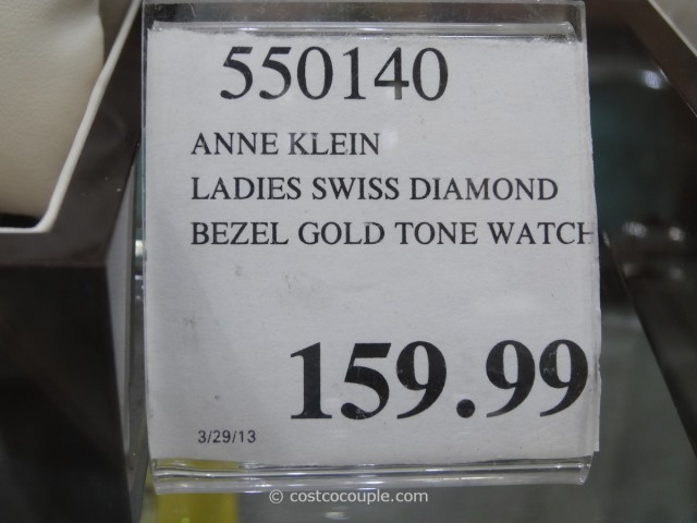 Anne Klein Ladies Diamond Bezel Gold Tone Watch Costco 2