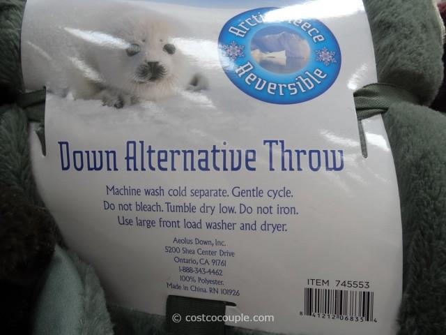Artic Fleece Reversible Down Alternative Throw