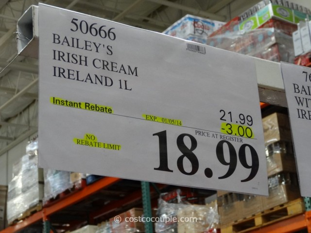 Bailey's Irish Cream: a L bottle retails for $ while Costco sells the same bottle for $ The Costco price is 21% less than the retail price! Tanqueray Gin: a L bottle retails for $ while Costco sells the same bottle for $