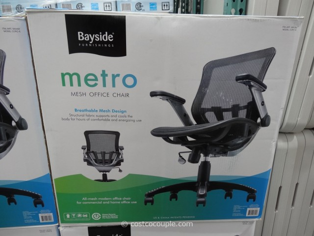 Bayside Metro Mesh Office Chair Costco 1