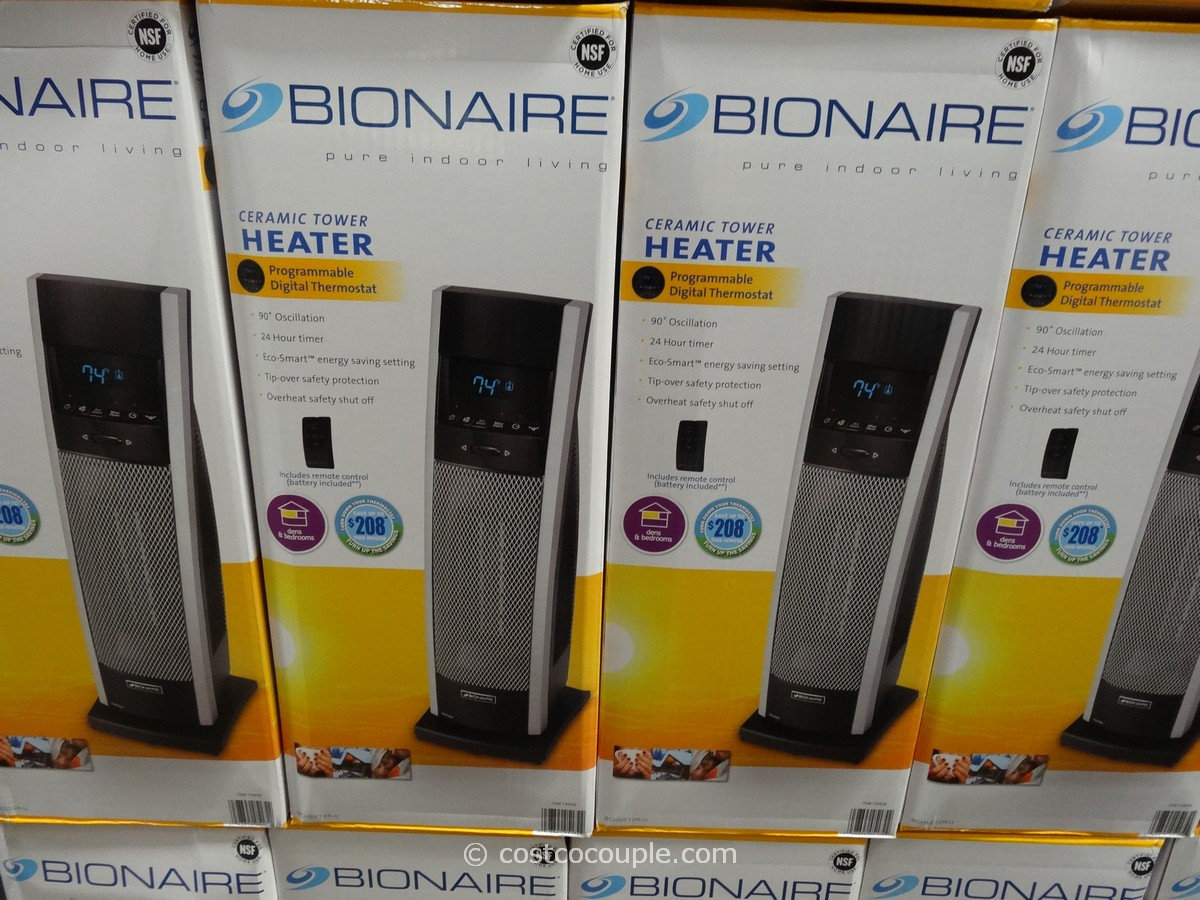 Bionaire Digital Ceramic Tower Heater Costco 1